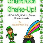 Shamrock Shake-up! St. Patrick's Day Sight Word Card Game!