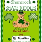 Shamrock Shape Riddles Tiered Math Tub