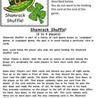 Shamrock Shuffle Sight Word Game and Flash Cards