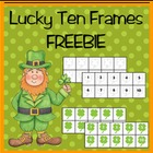 Shamrock Ten Frames Clip Art FREEBIE!