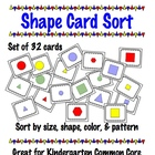 Shape Card Sort - Great for Common Core Math Standard k.md