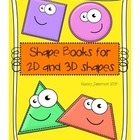 Shape Mini Books (2 and 3 dimensional)