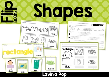 Shapes - 11 Flip Books (color and black and white)