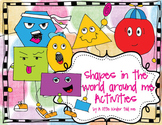 Shapes! Activities and centers
