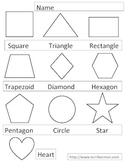 Shapes Go to School Activity Worksheet