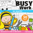 Shapes Worksheet Packet - Busy Work for 2D Shapes