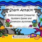 Shark Attack! Comparing 2 and 3-Digit Numbers Math Station