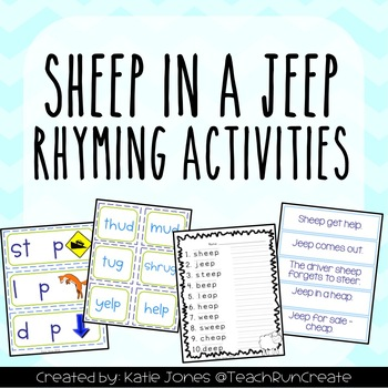 Sheep in a Jeep (rhyming and long e activities)