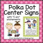 Sherbert Polka Dot Center Signs