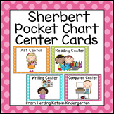 Sherbert Polka Dots Pocket Chart Center Cards