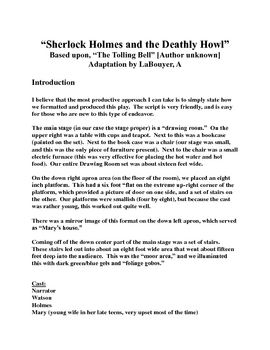 """Sherlock Holmes & the Deathly Howl,"" A Script [Theater Scripts]"