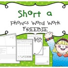 Short A Freebie {From Short Vowel Bundle}