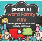 Short A Word Families {Center Games & Activities}