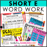 Short E Word Work Activities
