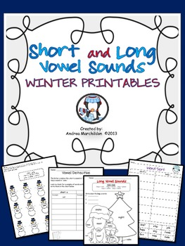 Short & Long Vowel Sounds Winter Printables