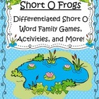 Short O Frogs Differentiated Short O Word Family Games, Ac