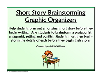 Short Story Planner / Brainstorming Worksheet