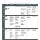 Short Story Unit Calendar/Outline