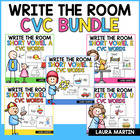 Short Vowel CVC-Mega Bundle Read and Write the Room