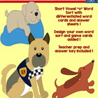 Short Vowel (CVC) Word Sort-Dogs