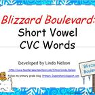 Short Vowel CVC Words: Blizzard Boulevard Game