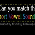 Short Vowel Memory Match Game- Flipchart