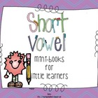 Short Vowel Mini-Books for Little Learners {Freebie}