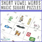 Short Vowel Pictures and Words Magic Square Puzzles