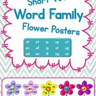 Short Vowel Word Family Flower Posters
