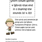"Short Vowel Words and words that end in ""s"" Wilson Unit 6"