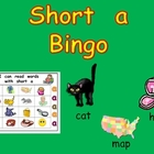 Short Vowel a Bingo Game- Kindergarten Word Work
