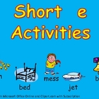 Short Vowel e Word Work- Kindergarten 1st Grade Reading & Writing