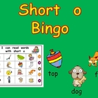 Short Vowel o Bingo Game- Kindergarten Word Work