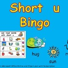 Short Vowel u Bingo Game- Kindergarten Word Work