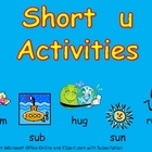 Short Vowel u Word Work- Kindergarten 1st Grade Reading & Writing