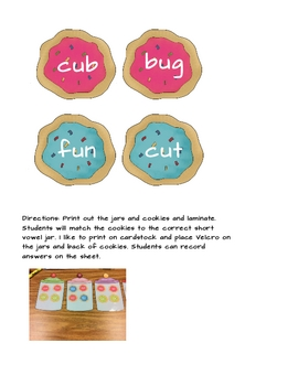 Short Vowels Sort - Cookies