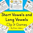 Short Vowels and Long Vowels Clip It Games {Common Core Phonics}