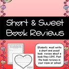 Short and Sweet Book Review - FREE Valentine Activity