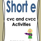 Short e Vowel Activities