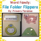 Short i Word Family: File Folder Flipper Freebie