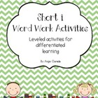 Short i Word Work Activities- {Leveled}