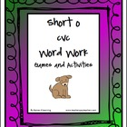 Short o CVC Word Work Activities and Games