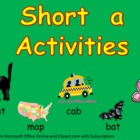 Short vowel a Word Work- Kindergarten 1st Grade Reading/ Writing