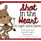 Shot in the Heart - A Sight Word Game