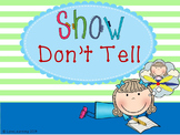 Show, Don't Tell {Lesson, Notes, Practice Sheet}