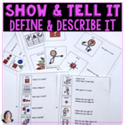 Show&Tell It_Define&Describe It: how-to guides for special