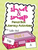 Shut and Snap- Pencil Box Literacy Activities For Young Learners