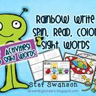 Sight Word Activities {Rainbow Write Sight Words and Spin,