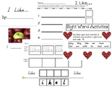 Sight Word Activity Pack- set 1
