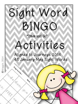 "Sight Word Bingo ""Trace and Go"" Activities Aligned to Jour"